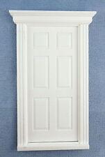 Dolls House White Plastic 6 Panel Georgian Door 1:12 Scale DIY Builders