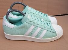 ADIDAS SUPERSTAR 80's TRAINERS SIZE 4 UK RARE MINT GREEN REPTILE SKIN IMMACULATE