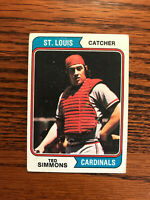 1974 Topps #260 Ted Simmons Baseball Card St. Louis Cardinals Raw