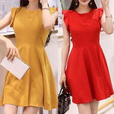 New Women Ladies Casual Party Shift Dress Sleeveless AU Size 10 12 14 16 18 0799