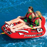 WOW 2-Person Coupe Cockpit Tow Tube Towables Outdoor Sports Boats Summer Fun New