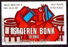 Beer Label - Van Steenberge Brewery - Belgium - Stoeren Bonk Blond