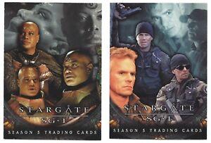 2002 Rittenhouse Stargate SG-1 Season 5 Promo P1 & P2 Set Lot Promotional Card