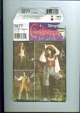 Simplicity 3677 Pattern Lady Pirate Wench Coat Vest Pants Blouse Costume 6-12