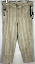 DIESEL Men's 32 Carrot- Chino Denim Made in ITALY Lt Brown Striped  NEW w/ tag