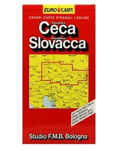 Repubblica Ceca, Repubblica Slovacca Cartina Stradale 1:300.000 [Mappa/Carta]