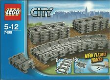 LEGO CITY BINARI FLESSIBILI PER SET TRENO FLEXIBLE TRACKS  5 -12 ANNI  ART 7499