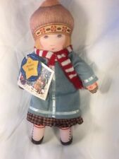 Vintage 1992 Hallmark Mary Engelbreit Cloth Rag Doll Winter Scarves Plush Anne