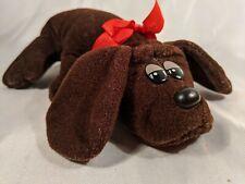 """Vintage Tonka Pound Puppies Dark Brown Newborn Puppy Dog 8"""" Plush Stuffed Animal"""