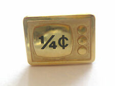 Vintage Gold Tone 1/4 Cent  Lapel Pin Tie Tack