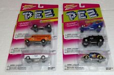 JOHNNY LIGHTNING PEZ DIE CAST COMPLETE CAR SET NEW VW FORD CHEVY