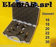 Krino Set fresa a Tazza + valigetta 6 pz professionale diam 16 18 20 22 25 30 mm