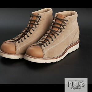 "NWOT CHIPPEWA Boots 8 EE Khaki Suede 5"" Utility Bridgemen Handcrafted USA"