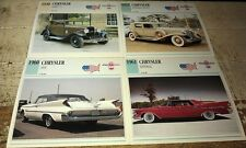 CHRYSLER Cars Colour Collector Cards x 4      IMPERIAL 300F etc