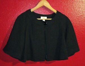 $188 Women's Talbots Black Shawl Shrug Cape Size 8 Petite
