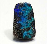 100% Natural Boulder Opal 2.90 ct Solid Australian Gemstone   SEE VIDEO