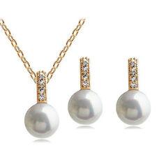 Pearl Rhinestone Costume Jewellery Sets