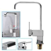 Waterfall Modern Mono Kitchen Kitchen Tap Spray Chrome Sink Faucet Taps