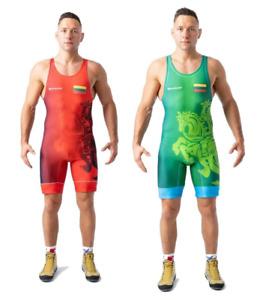 Tuta da wrestling BERKNER Lituania  Wrestling Suit Trikot Singlet Ringertrikot