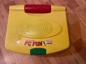 Vintage VTECH Little Smart PC Fun PLUS Works!  Yellow Case Computer