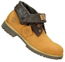 """Timberland Mens 48520 Roll Top 6"""" Boots Size 12M Wheat/Brown Nubuck Leather"""