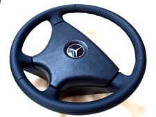 MERCEDES 190 W201 W124 E Nappa Leather Black OEM Steering Wheel WITHOUT Airbag