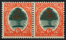 South Africa 1933-48 SG#61d,  6d Orange Tree Die III MNH Pair #D23943