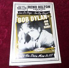 Bob DYLAN @ Reno Hilton Rock Art Poster vtg 2000 100% Original