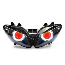 KT for Yamaha YZF R1 2002 2003 LED Angel Halo Eye HID Headlight Assembly Red
