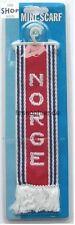 Minischal Norwegen mit Saugnapf und Aufhänger Schal 22x5cm für Auto LKW NEU