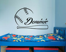 Boys Name Wall Decals Vinyl Sticker Baseball Kids Teens Boys Sports Decor X14