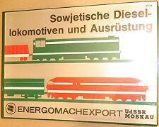 Soviétique Locomotives Diesel et Équipement Energomachexport Urss Moscou Å