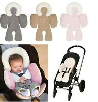 Body Support Cushions Reversible Car Seat Stroller Soft Cotton Baby Compliance