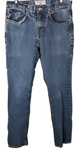 Billabong Men's Slim Jeans Medium Wash Blue Denim Skinny Pants Stretchy Size 30