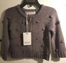 Minoti Brand New Baby Boys Stylish Grey Knitted Marl Jumper Size 6-12 Months