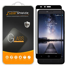 Supershieldz for ZTE Zmax Pro Full Cover Tempered Glass Screen Protector (Black)