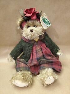 "LM Bearington Martha 14"" Jointed Pellet Filled Vintage Artist Teddy Bear Plush"