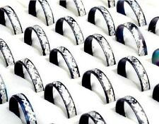 LOT de 100 bagues aluminium noir et argenté