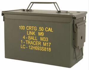 BOITE À MUNITION COMME NEUVE M2A1 CAL. 50