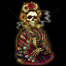 Frida Skeleton Skull Day Of The Dead Dia De Los Muertos Painter T-Shirt Tee