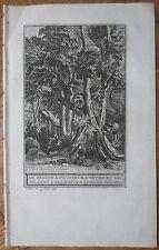 J. de la Fontaine: Fable Original Engraving The Dragon Hydra - 1786
