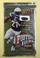 2008 Upper Deck Football Heroes Card Pack NEW Sports NFL