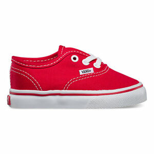 VANS Toddlers Authentic Canvas Red  VN-0ED9ED All Sizes 4-10 Free Shipping
