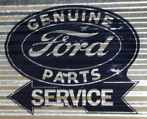 """Sign of the Times Corrugated Metal Wall Sign Plaque 15"""" x 12"""" (Ford)"""