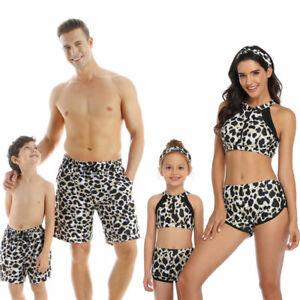 Parent Child Swimsuit Underwear Beach Sport Family Bathing Kids Mom Swimwear Set