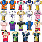 Men T Shirt Compression Dragon Ball Z Short Sleeve  Anime Tight Training Jersey