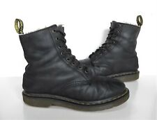 Ladies Dr Martens Black leather Lace-up boots Size 6 Worn