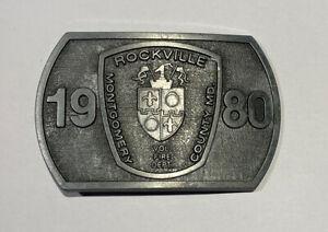 Volunteer Fire Department Belt Buckle Rockville Maryland Montgomery County 1980