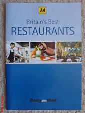 BRITAIN'S BEST RESTAURANTS AA GUIDE DAILY MAIL TOP TEN PER CENT ROSETTES NEW