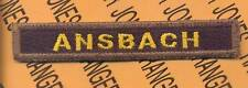 1st Armored Diviision ANSBACH Armor Tank TAB patch
